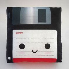 Remember floppy disks , those things your now using as coasters for your coffee? Well bring back the memories and check out this Floppy Disk Pillow. The Floppy Disk Pillow is cotton and is the perfect throw pillow for any nerd cave. Cute Pillows, Throw Pillows, Kitsch, Console Vintage, Floppy Disk, Kawaii, Co Working, Cotton Pillow, Geek Chic