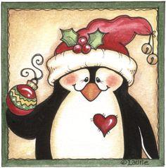 Carita pingüino. Idea para cuadro
