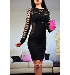 Sukienka z czarnej siateczki z najnowszej kolekcji wiosna/lato 2016! Sexy dresses, black dress, party dress,