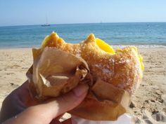 "if you come to Portugal during the summer...please go to the beach and enjoy the famous ""Bola de Berlim"". They are sold at the beach...in every beach all over the country!!"