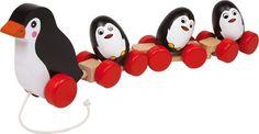 Trekfiguur Pinguin Hout 2492