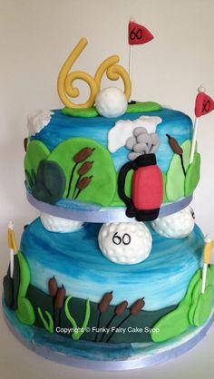 Golfing birthday day cake