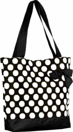 Black and White Polka Dot Tote Beach Bag Polka Dot Bags, Polka Dots, Dots Fashion, Fashion Black, Indian Fashion, Purse Hook, Travel Tote, Beach Tote Bags, Black N White