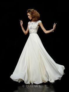 0e8e3d6b3e Ball Gown Chiffon High Neck Short Sleeves Beading Floor-Length Dresses -  Formal Evening Dresses