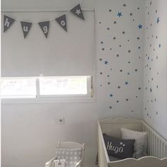 Dark gray and blue stars walldecals by nicolasito.es