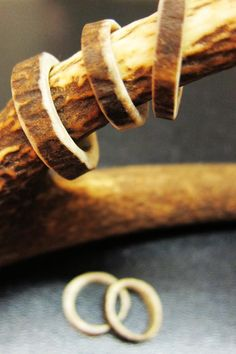 Deer antler rings