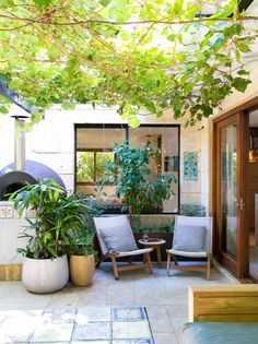 Small but lovely patio. Ascher and Dylan's Modern (& Gorgeously Landscaped!) Australian Home — House Tour