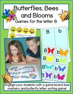 2 fun games for preschool and kindergarten students learning the letter B.  TpT $