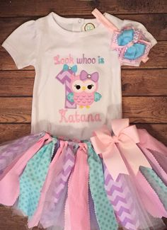 Look Whoo is 1 Birthday Tutu Outfit by ScrapHappyTutus on Etsy