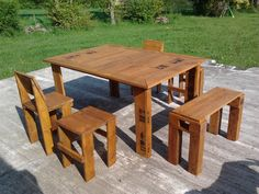 Our pallet garden set #GardenSet, #Pallet, #Table