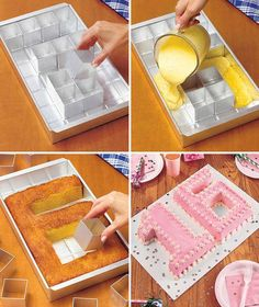 Adjustable Cake Pan For Easy Letters and Numbers