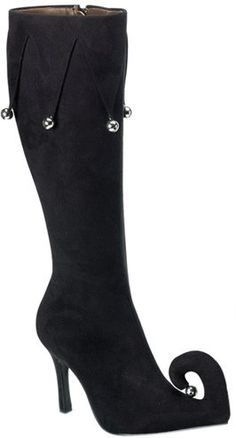 Adult Women's Black Jester Costume Boots Size:08. From #brandsonSale. Price: $49.99