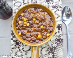 African Corn, Bean and Fish Stew
