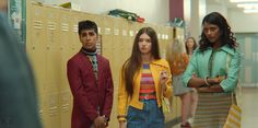Chaneil Kular as Anwar, Mimi Keene as Ruby & Simone Ashley as Olivia in season episode of Sex Education. Short Outfits, Outfits For Teens, Love Fashion, Fashion Outfits, Education Information, Teen Tv, Female Friends, Mean Girls, Grunge Outfits