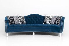Curved Mademoiselle Sofa in Bella Bayoux Velvet | ModShop