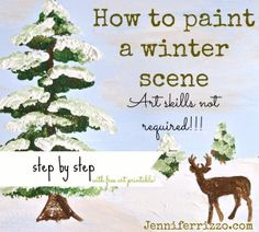 How to paint a winter scene…Art skills not required…!!!