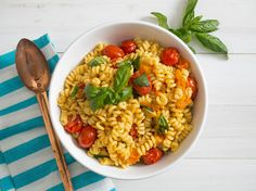 Blistered-Tomato Pasta Salad With Basil