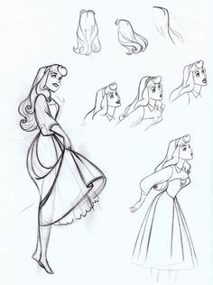 Animation Character Design Sleeping Beauty