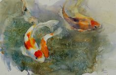 """James Wu – Watercolor Medium: Watercolor on paper Size: 14"""" H x 21"""" W Year: 2004 Note: Original Painting Available Available: Print on paper, Canvas and Greeting card. Related"""