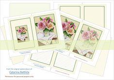 Junk Journal. Roses Journal Kit. Digital Journal 5x7. Planner, Ephemera. Printable Paper, Shabby Chic Craft, Envelopes, Cards. JN007 Scrapbooking Flowers, Make Your Own Card, Digital Journal, Shabby Chic Crafts, Printable Paper, Junk Journal, Envelopes, Ephemera, Collages