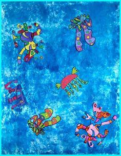 animaux imaginaires à partir de Bleu de ciel Kandinsky Wassily Kandinsky, Land Art, Abstract Words, Abstract Art, Z Arts, Art Moderne, Art Abstrait, Life Drawing, Art Plastique