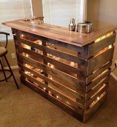 An amazing homemade bar