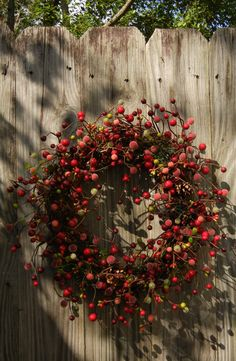 Christmas Wreath Holiday Door Wreath with Berries by forevermore1