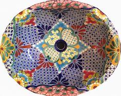 Ceramic Basin Oval Large – (Multi) - Hadeda Tiles