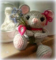 """http://www.crochet-owl.com Häkeln & Stricken: Kleines Mause-Mädchen Pattern by """"Little Muggles"""""""