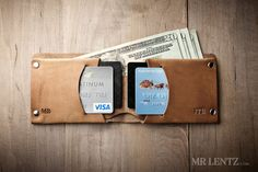 Minimal Leather Wallet, Mens leather wallet, bifold wallet, thin leather wallet, minimalist wallet, Traditional 015