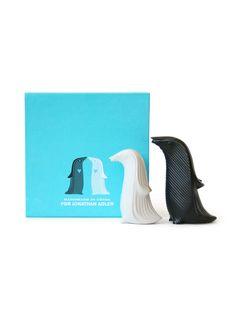 GIFT IDEA for you Carebear!! Jonathan Adler  Penguin Salt and Pepper Shakers  $25 Gilt @Karyn Holinaty Holinaty Jester