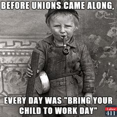 Republican policy will send us back to the industrial age days. Maybe our kids can get a job after they get rid of age restrictions again.