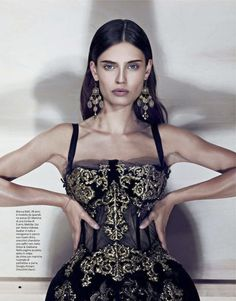 Bianca Balti in 'Cinquanta Sfumature di Fascino' - Photographed by Driu + Tiago (Amica November Complete shoot after the click. Party Fashion, Runway Fashion, Boho Fashion, Fashion Models, Fashion Beauty, Fashion Design, Beautiful Evening Gowns, Bianca Balti, Satin Gown