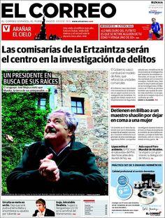 Los Titulares y Portadas de Noticias Destacadas Españolas del 3 de Junio de 2013 del Diario El Correo ¿Que le parecio esta Portada de este Diario Español?