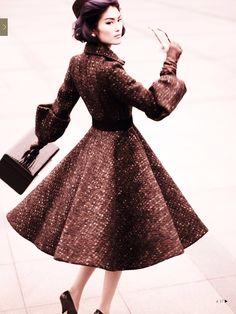 Inspiration Fashion 1940, Working Day, Pret-a-Porter, Mario Testino