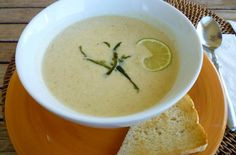Roasted Poblano Vichyssoise With Lime | Category: Soups & Salads
