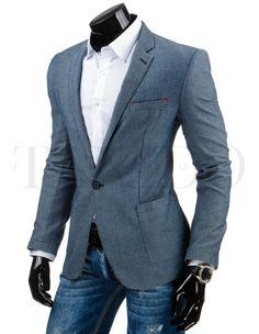 Pánské stylové sako - Tom, modré Suit Jacket, Blazer, Suits, Jackets, Fashion, Down Jackets, Moda, Fashion Styles, Blazers