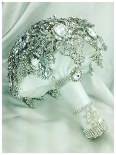 The Glam Gatsby Diamond Crystal Bling Brooch by NatalieKlestov