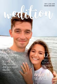 Naomi and Ben had a fabulous summer's day fro their wedding day. Their personalised wedding magazine featured their full church order of service, some history on Wasing Park, their reception venue, and we included an introduction to the wedding party as well as a fun Mr and Mrs page.