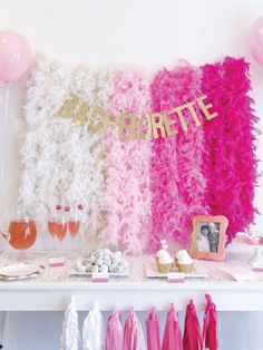 Ombré pink bachelorette decor kit