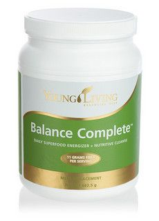 Balance Complete is a superfood-based meal replacement. Formulated to energize and cleanse, it features Young Living's proprietary V-Fiber blend, which supplies an impressive 11 grams of fiber per serving.  Facebook:  Living a Chemical Free Lifestyle