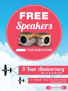 FREE SPEAKERS FOR ALL
