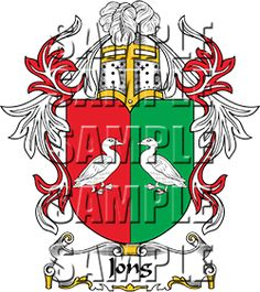 Jong Family Crest apparel, Jong Coat of Arms gifts