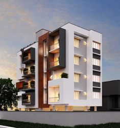 70 Ideas Apartment Building Design Architecture Projects For 2019 Architecture Design, Modern Residential Architecture, Facade Design, Exterior Design, Amazing Architecture, Modern Exterior, Bungalow Exterior, Building Elevation, Building Exterior