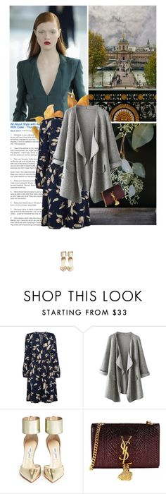 """""""*"""" by lagomera ❤ liked on Polyvore featuring Oasis, Jimmy Choo and Yves Saint Laurent"""