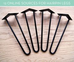If you're looking for hairpin legs for your next project, you've come to the right spot! We've rounded up 12 online sources for quality hairpin legs in a variety of styles and colors.: