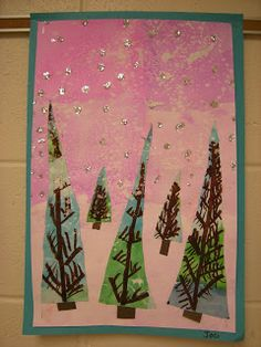 WHAT'S HAPPENING IN THE ART ROOM??: 2nd Grade: Winter Landscapes