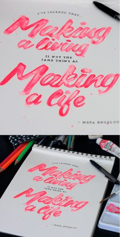 Making a Life lettering // Cheeky Design