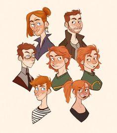 Harry Potter The Weasley's Fanart Harry Potter, Harry Potter World, Mundo Harry Potter, Harry Potter Drawings, Harry Potter Love, Harry Potter Universal, Harry Potter Memes, Harry Potter Books, Potter Facts