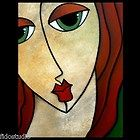Eloquent Original Abstract Portrait Large Modern Art Painting by Fidostudio